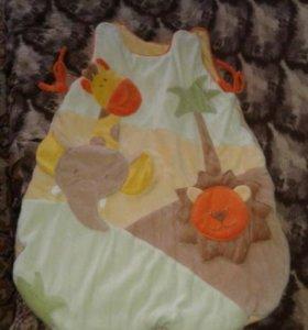 Детский спальный мешок на синтепоне