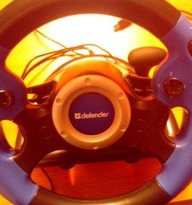 Игровой Руль Defender+диск с гонками в падарок