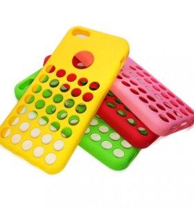 """Чехол """"Holes"""" iPhone 5c (TPU)"""