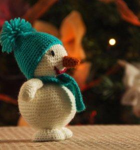 Игрушка Снеговик. (Ручная работа)
