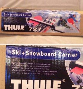 Крепление на багажник для лыж, сноуборда.