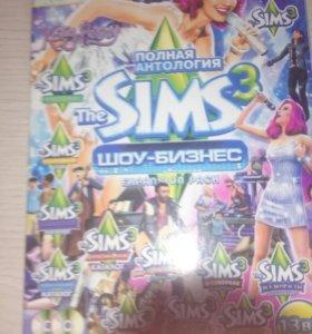 Диск Sims 3 шоу бизнес игры на компе