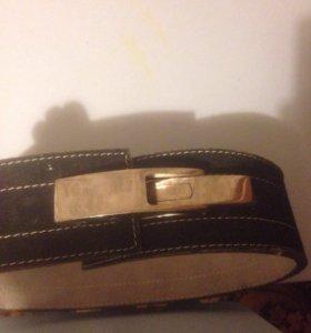 Ремень для пауэрлифтинга кожаный