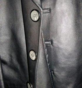 Новый кожаный мужской пиджак