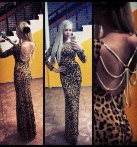 Платье леопардовое.