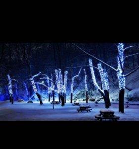 Освещение на деревья