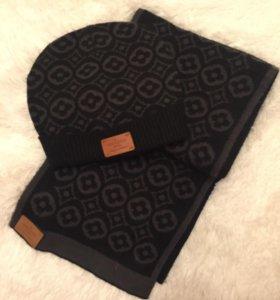 Комплект Луи ветон шапка+шарф