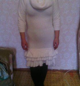 Платье + балеро из ангорки,очень приятное и теплое
