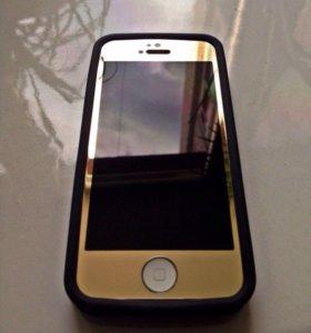 Защитные стекла для iPhone 4,5,6,6+ разные цвета
