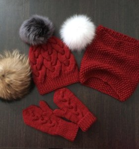 Детский комплект шапка