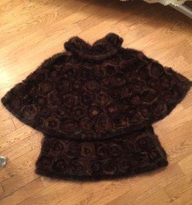Шубка куртка из вязаной норки