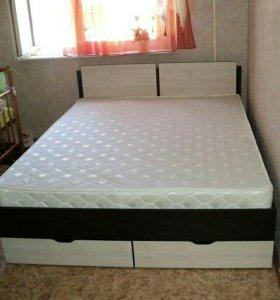 Кровать усиленной конструкции с ящиками 1.4х2.0