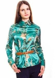 Блуза зеленого цвета
