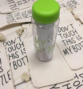Му bottle зелёная + мешком