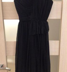 Вечернее платье без лямок mango р. S