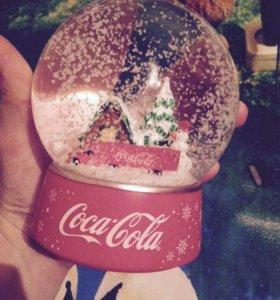 Новогодний снежный шар Coca Cola