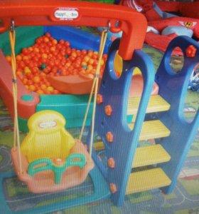 Детский игровой комплекс с качелями
