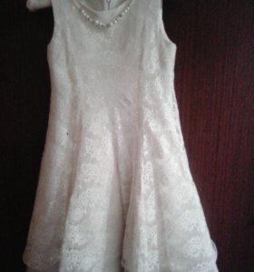 Торжественное платье на девочку 9-11 лет