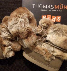 Thomas Munz kids новые меховые сапожки 30р-р