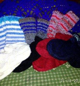 Вяжу на заказ носочки тёплые