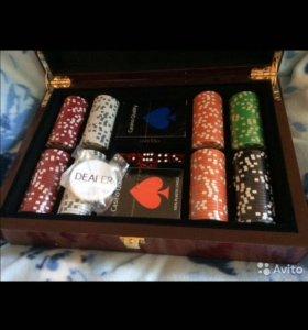 Покерный набор 300 керамических фишек