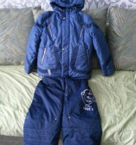 костюм зимний для мальчика 128р