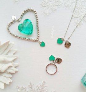 Набор украшений-подвеска и браслет-серебро