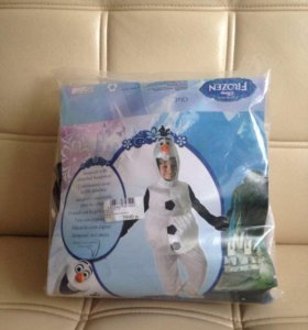 Костюм снеговика Олафа карнавальный детский 90-100