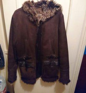 Кожаная мужская куртка(дубленка)тоскана