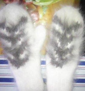 Варежки пуховые