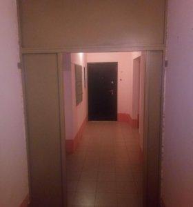 Перегородка стальная с дверью