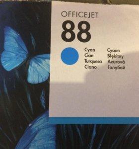 Картридж HP 88 cyan синий
