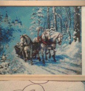 "Картина ""Три белых коня"""
