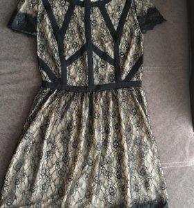 Кружевное платье новое!