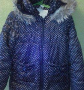 116-122 см. Куртка зимняя