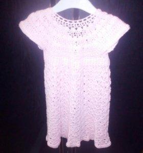 Платье ручная вязка