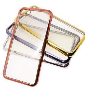 Чехол Сhrome edge iPhone 7/8 силикон