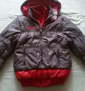 Куртка новая 140-152см демисезонная