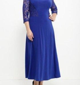 Новое вечернее платье цвет василек рр56