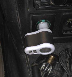 USB прикуриватель переходник