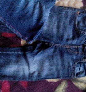 Вещи джинсовые для девочки(пакетом) рост.92