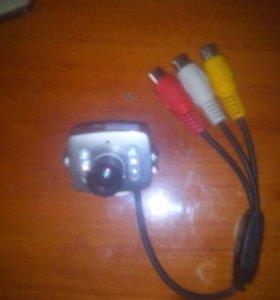 Камера наблюдения цветная с микрофоном