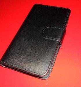 Черный чехол- книжка на Samsung Galaxy S4