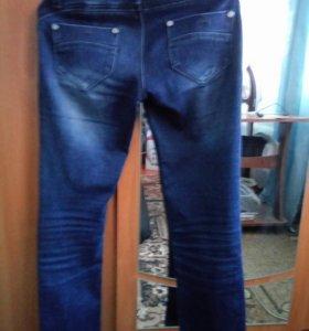 Теплые мягкие джинсы