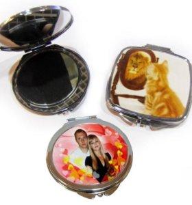 Зеркальце с фото на заказ