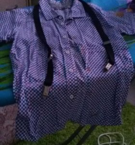 Рубашка с подтяжками.