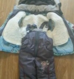 Зимний костюм размер 80 (+6)