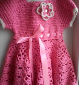 Платья вязанное