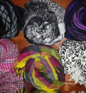 Шарфы, платки, манишка, шапка