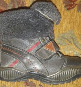 Классные зимние ботинки-сапоги Мифер кожа мех нат
